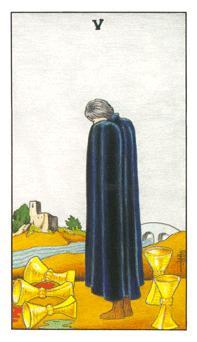 таро - петица чаши