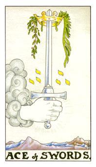 таро - асо мечове