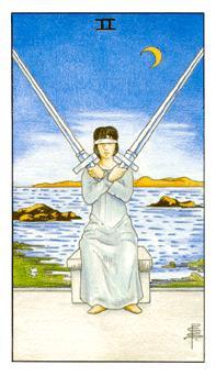 таро - двойка мечове