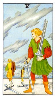 таро - петица мечове