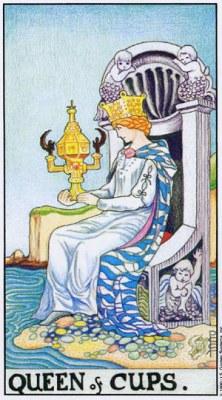 таро - кралица на чашите